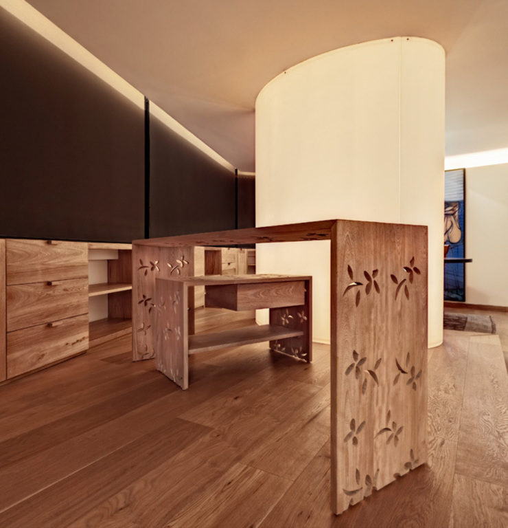 Departamento Polanco 1 Paredes y pisos de estilo moderno de Lopez Duplan Arquitectos Moderno