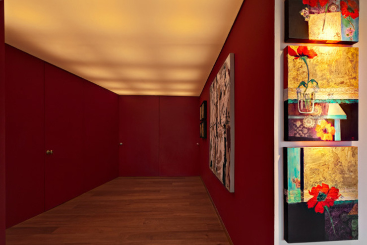 Departamento Polanco 1 Couloir, entrée, escaliers modernes par Lopez Duplan Arquitectos Moderne