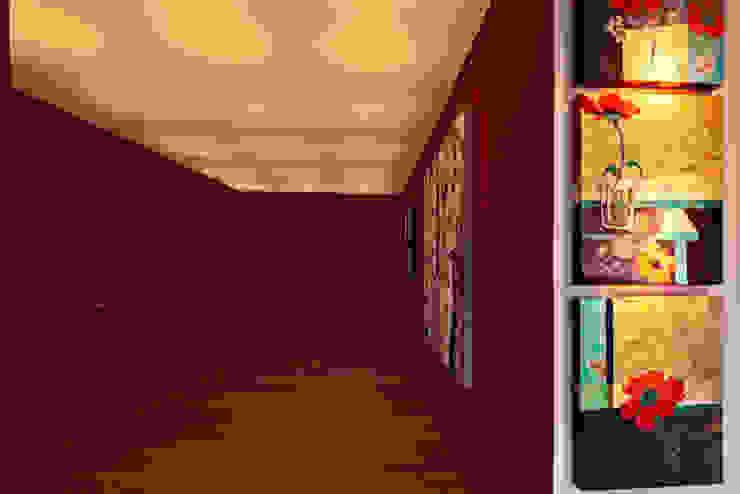 Departamento Polanco 1 Modern corridor, hallway & stairs by Lopez Duplan Arquitectos Modern
