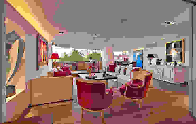 Departamento Polanco 1 Salon moderne par Lopez Duplan Arquitectos Moderne
