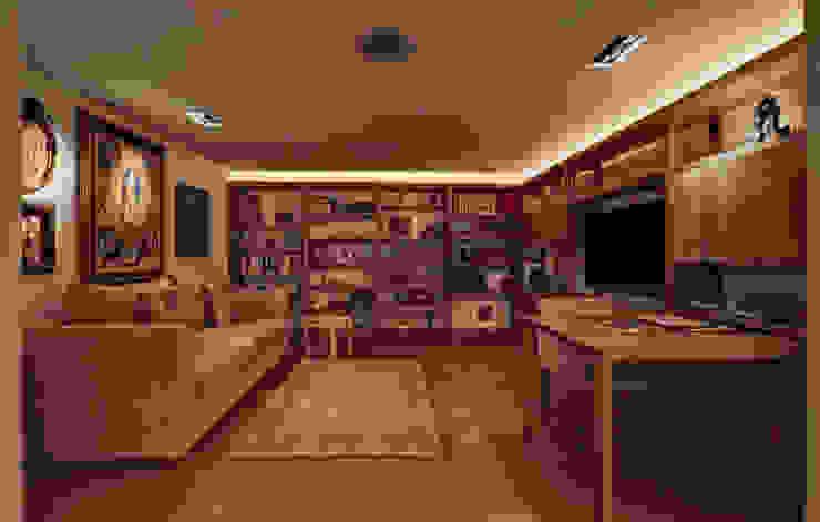 Departamento Polanco 1 Salas multimedia de estilo moderno de Lopez Duplan Arquitectos Moderno