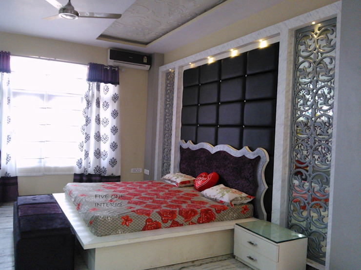 Bedroom Asian style houses by Five One Interio Asian