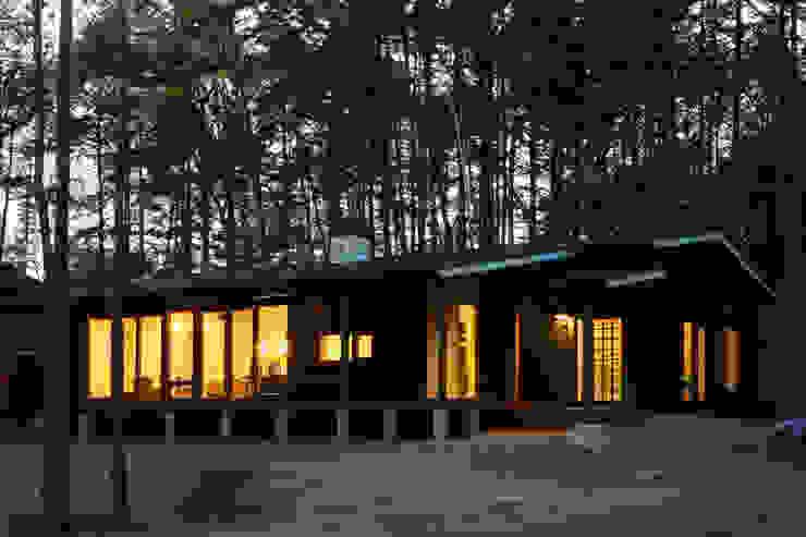 夕方の風景 オリジナルな 家 の 一級建築士事務所 アトリエ カムイ オリジナル