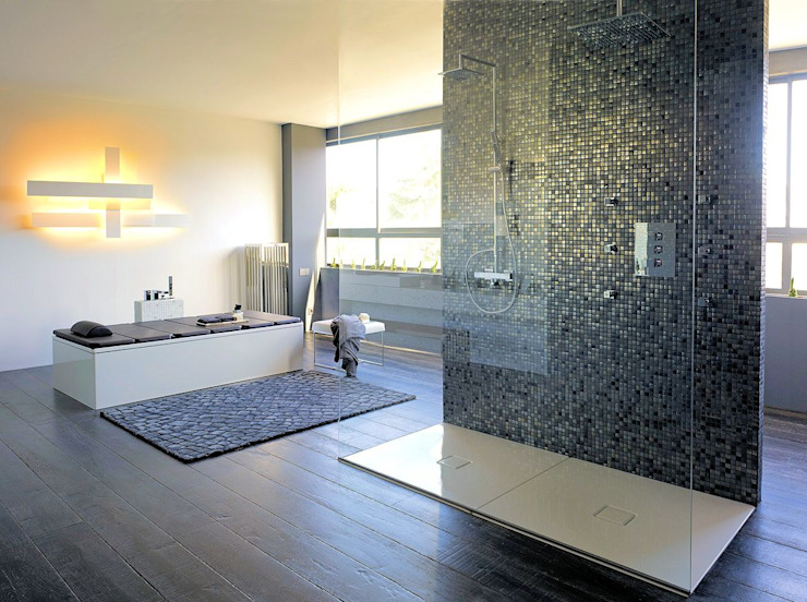 Texturas Neo Minimalist style bathrooms by The Mosaic Company Minimalist