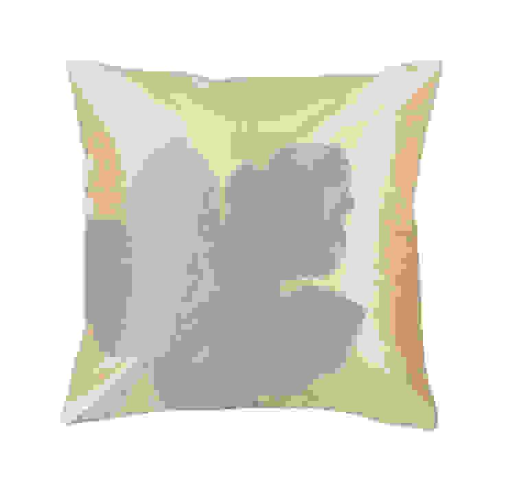 Maple Leaf Handmade Silk Cushion: tropical  by Le Cocon, Tropical