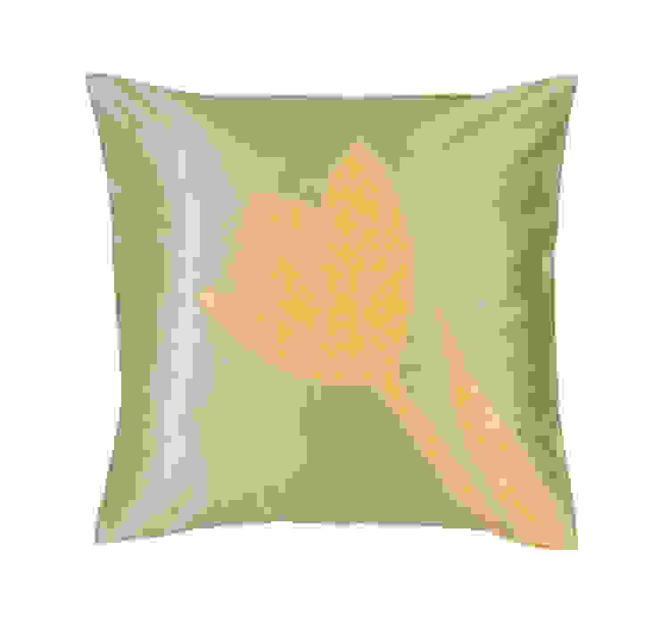 Tulip Handmade Silk Cushion: tropical  by Le Cocon, Tropical