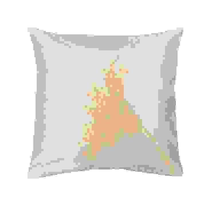 Gerbera Handmade Silk Cushion: tropical  by Le Cocon, Tropical