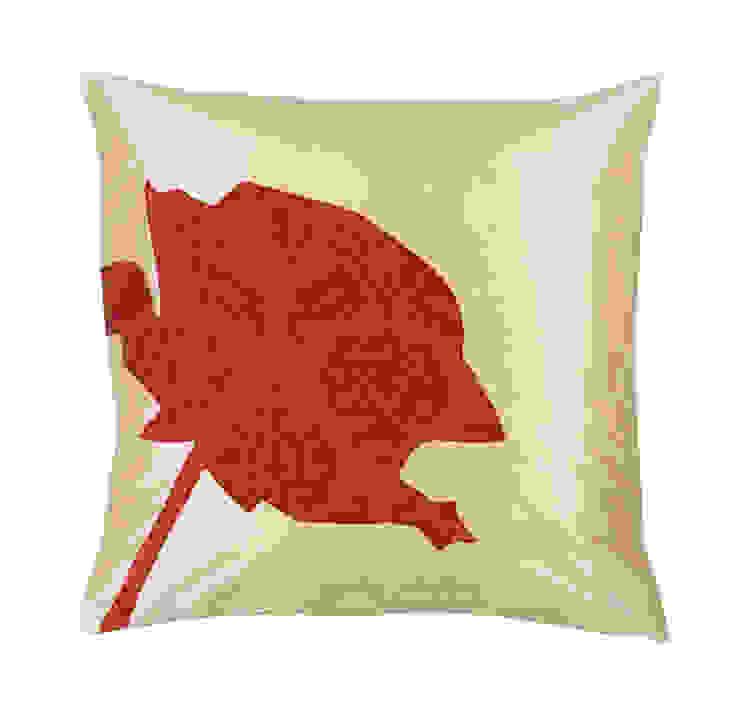 Rose Handmade Silk Cushion: tropical  by Le Cocon, Tropical