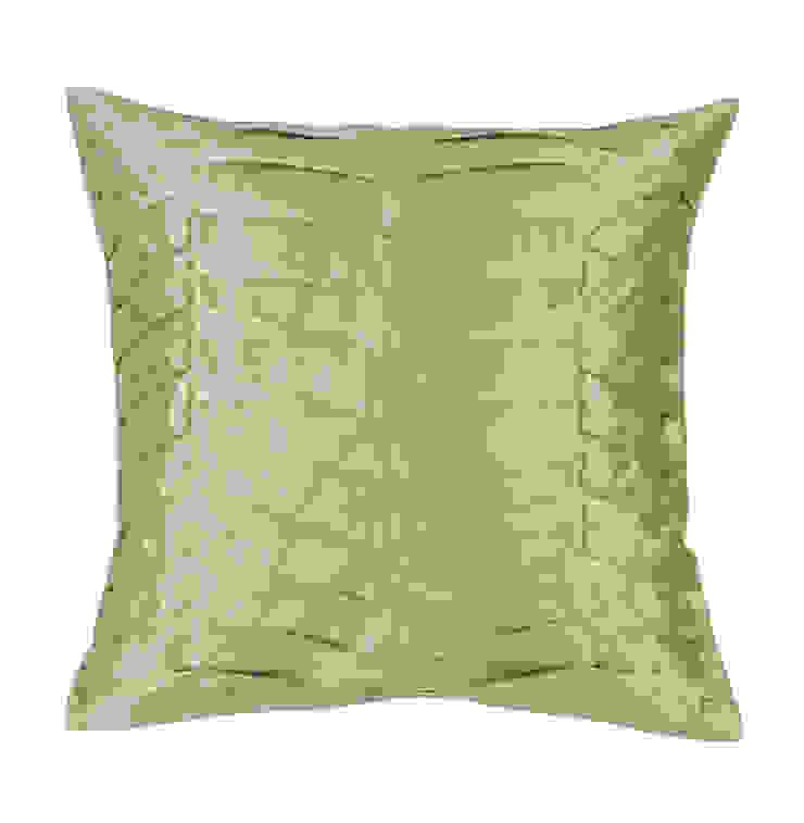 Hand Pleated Celadon Silk Cushion: asian  by Le Cocon, Asian