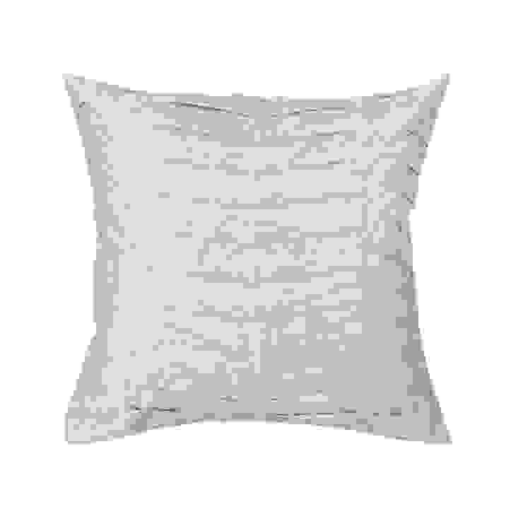 Hand Pleated Azure Silk Cushion: asian  by Le Cocon, Asian