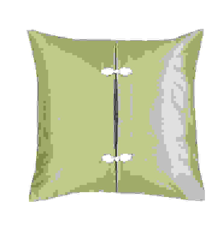 Asiatque Celadon Handmade Silk Cushion: asian  by Le Cocon, Asian