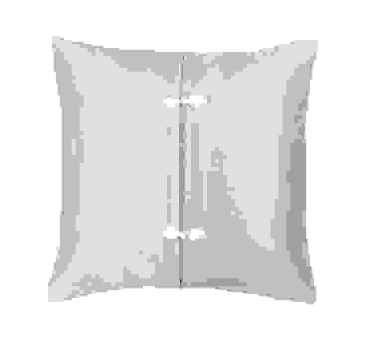 Asiatique Azure Handmade Silk Cushion: asian  by Le Cocon, Asian