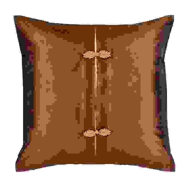 Asiatique Mocha Handmade Silk Cushion: asian  by Le Cocon, Asian