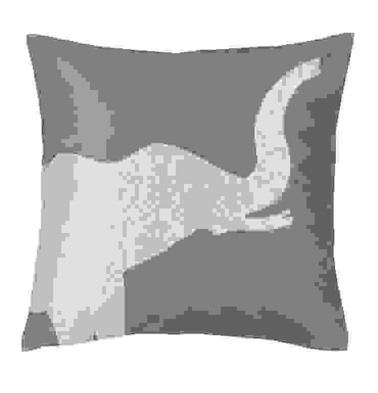 Elephant Handmade Silk Cushion: asian  by Le Cocon, Asian
