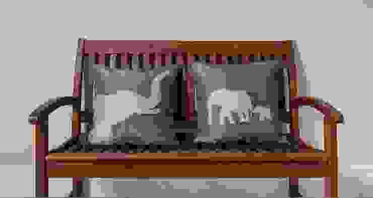 Wild Life Handmade Silk Cushions: asian  by Le Cocon, Asian