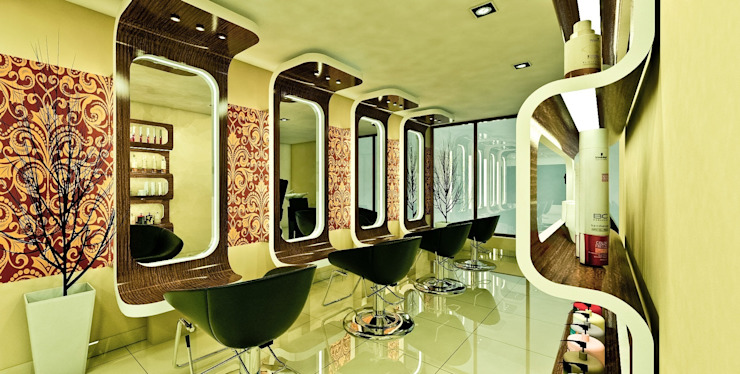 SALON INTERIORS: modern  by MRN Associates,Modern