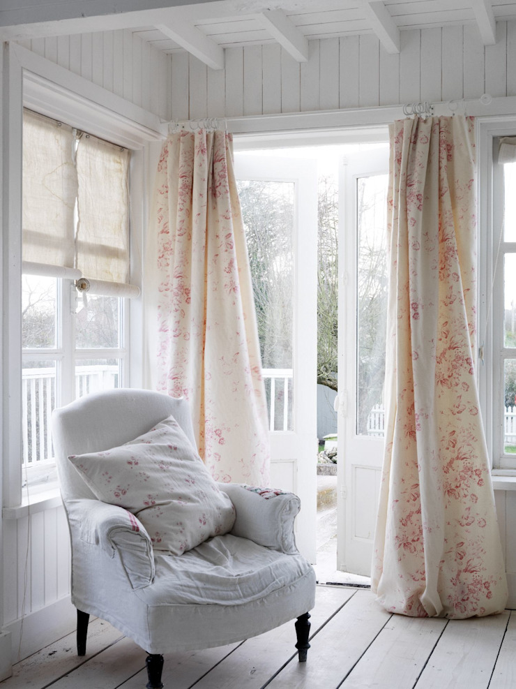 Constance Pink Cabbages & Roses Windows & doors Curtains & drapes