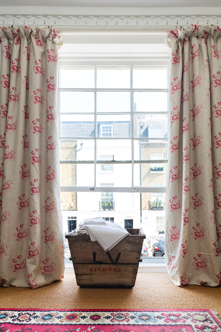 Natural Hatley Cabbages & Roses Windows & doors Curtains & drapes