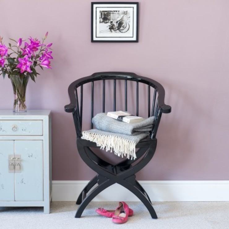 Black Lacquer Horn Chair от Orchid Азиатский