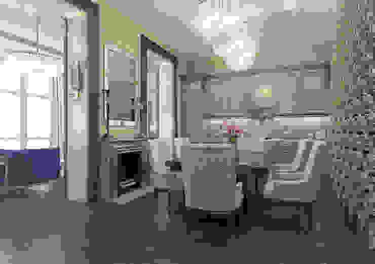 Апартаменты TriBeCa в стилистике Ар Деко Кухня в классическом стиле от Anna Clark Interiors Классический