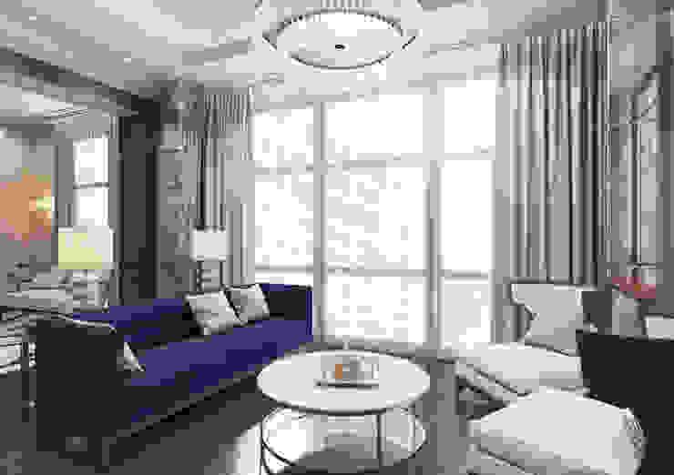 Апартаменты TriBeCa в стилистике Ар Деко Гостиная в классическом стиле от Anna Clark Interiors Классический