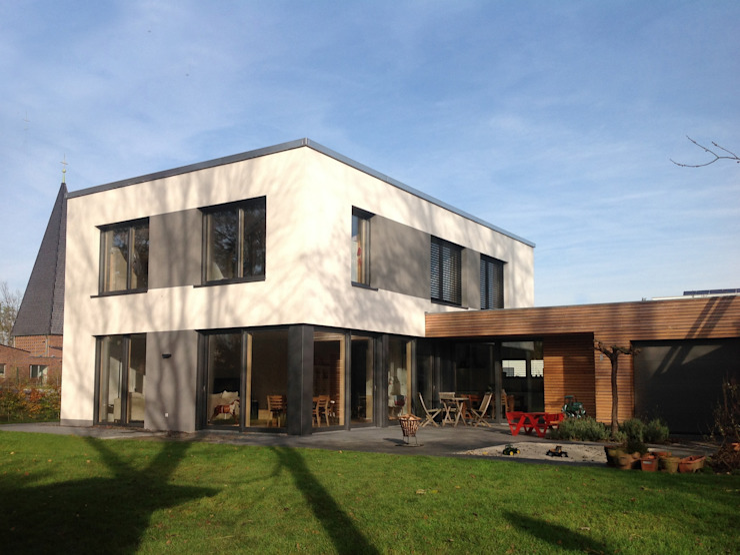 PLUS-Energie-Passivhaus Moderne Häuser von benthaus|architekten Modern