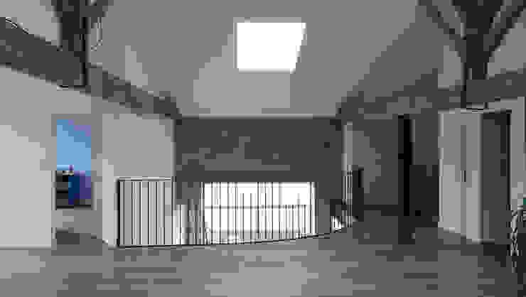 Aménagement de combles à Verneuil sur Vienne Jean-Paul Magy architecte d'intérieur Couloir, entrée, escaliers minimalistes