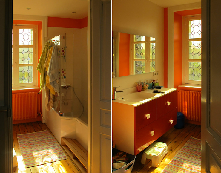 maison à Limoges Salle de bain moderne par Jean-Paul Magy architecte d'intérieur Moderne