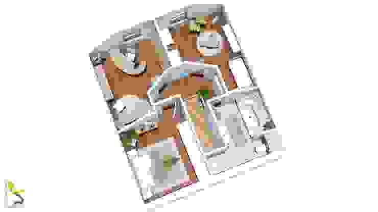 Grundriss Dachgeschoss: modern  von ELCH.ING,Modern