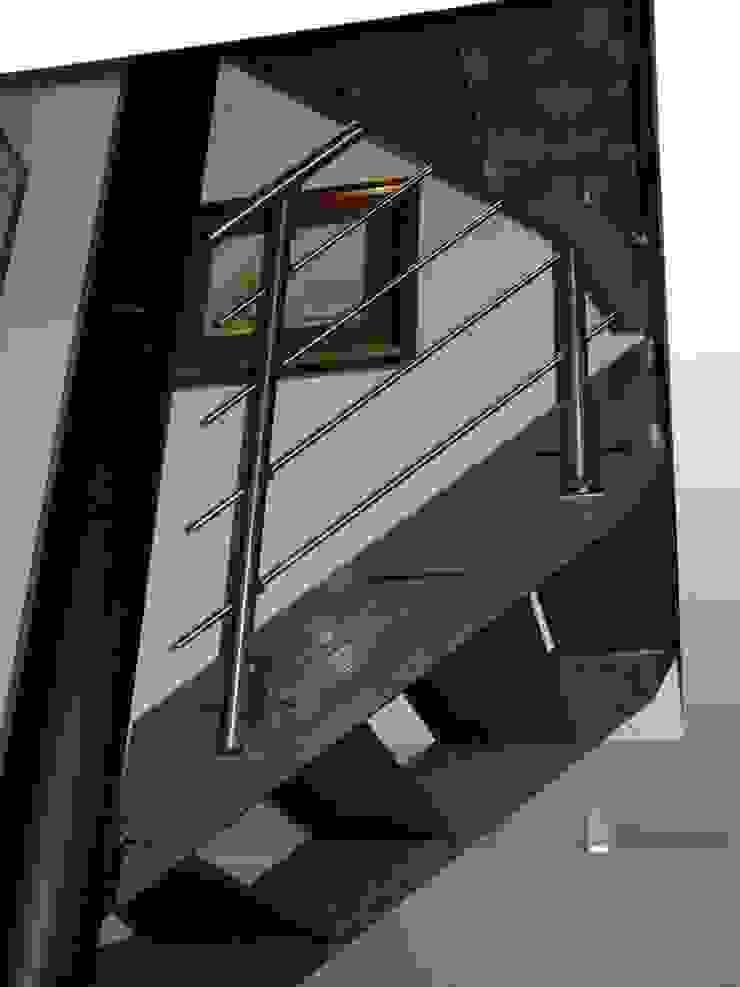 Planungsbüro GAGRO industrial style corridor, hallway & stairs