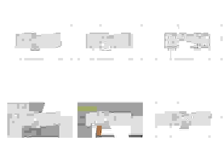 PLANTAS DE LA VIVIENDA Paredes y pisos de estilo moderno de JoseJiliberto Estudio de Arquitectura Moderno