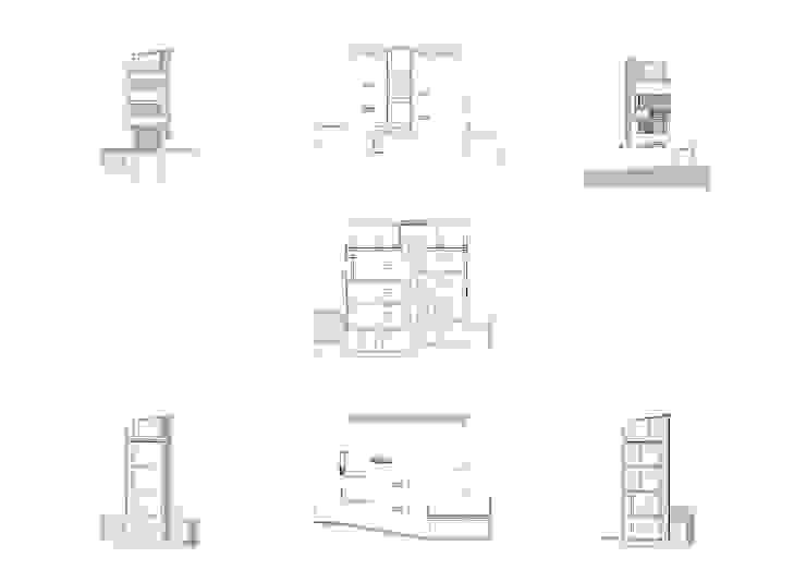 ALZADOS Y SECCIONES Casas modernas de JoseJiliberto Estudio de Arquitectura Moderno