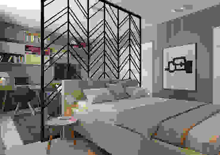 Salas / recibidores de estilo  por Anna Clark Interiors