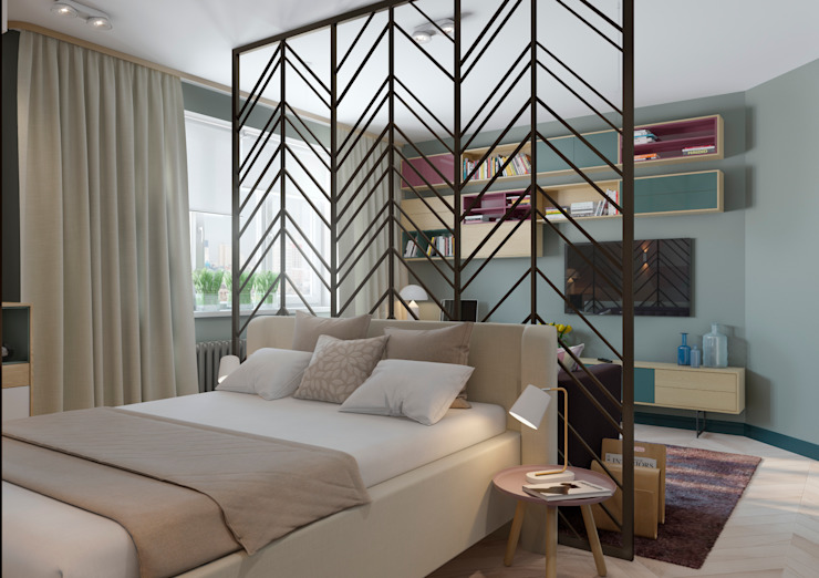 Salas de estar escandinavas por Anna Clark Interiors Escandinavo