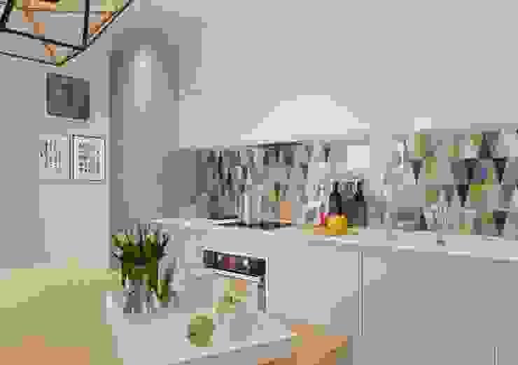 Яркая индивидуальность в типовой квартире Кухня в стиле модерн от Anna Clark Interiors Модерн