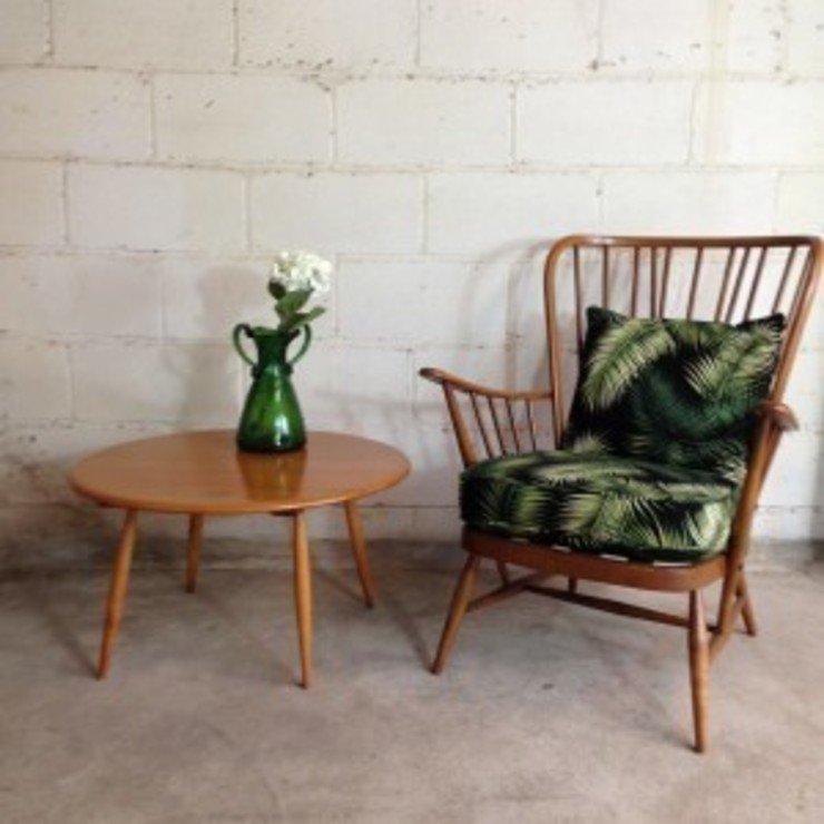 Vintage Ercol Chair in Palm Print: tropical  by Sketch Interiors, Tropical
