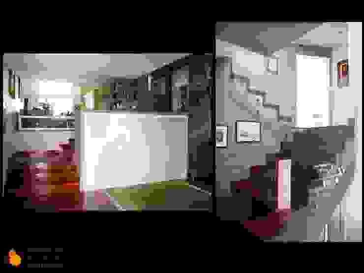 Barandilla escalera Casas de estilo moderno de gesHAB Interiorismo Moderno