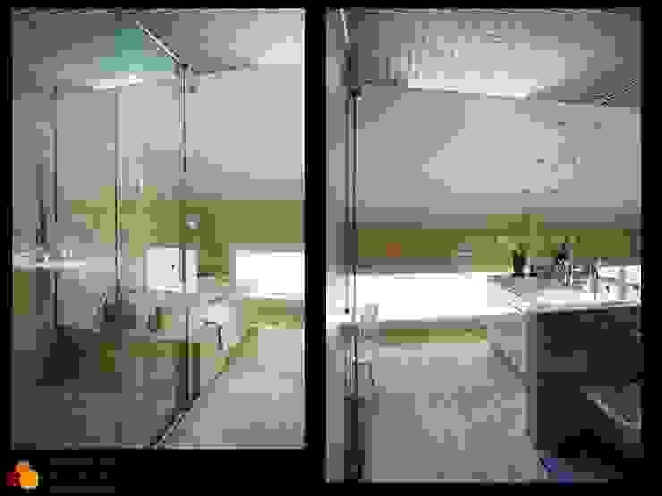 Baño principal Casas de estilo moderno de gesHAB Interiorismo Moderno