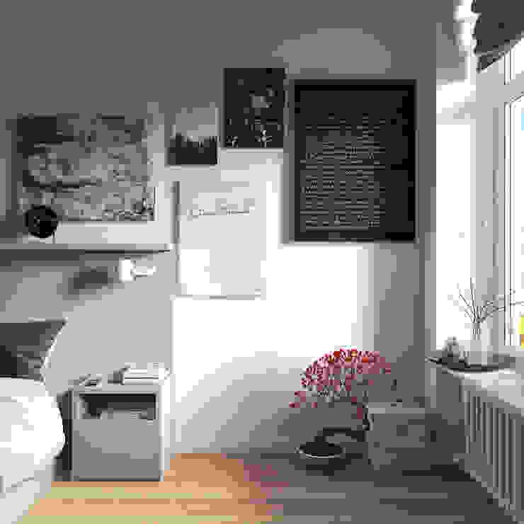спальные комнаты Спальня в скандинавском стиле от sreda Скандинавский