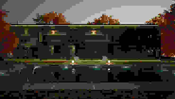 Vivienda con piscina exterior de Ibu 3d Moderno