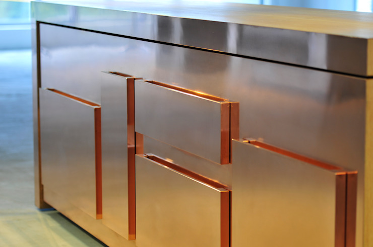 semplice copper di strato cucine Minimalista