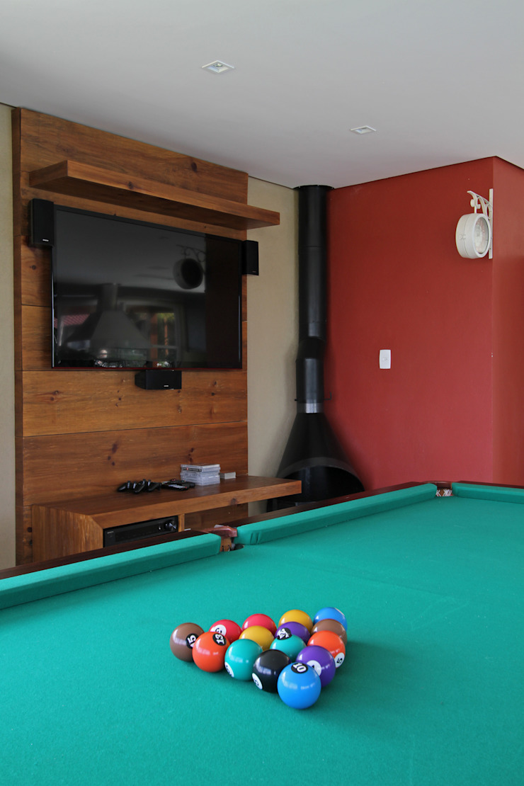 Graça Brenner Arquitetura e Interiores Garasi Gaya Rustic