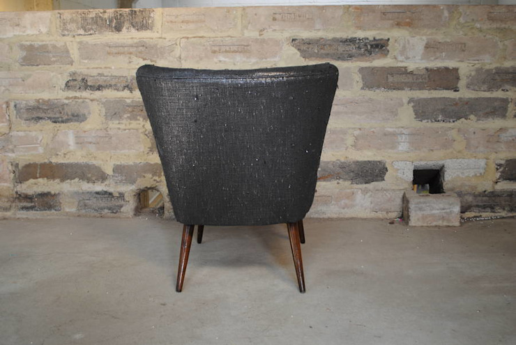 Gunmetal Boucle 1950's Cocktail Chair: eclectic  by Sketch Interiors, Eclectic