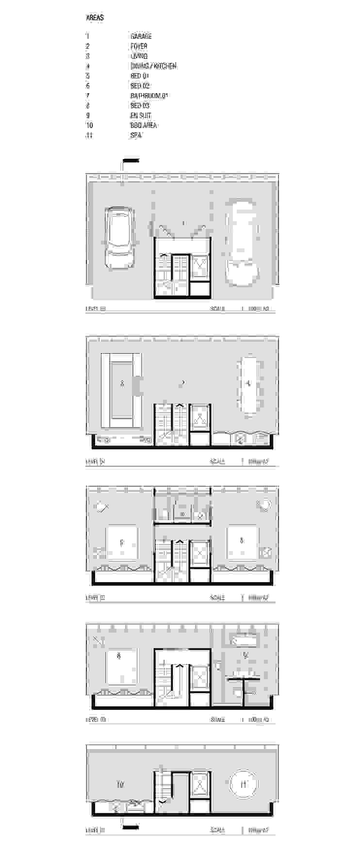Cliff House by Modscape Concept floorplans de Modscape Holdings Pty Ltd