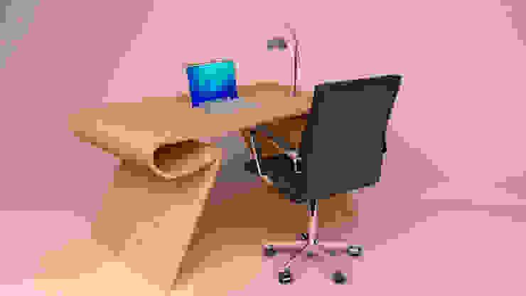 Escritorio de madera, Ibu3D de Ibu 3d Moderno