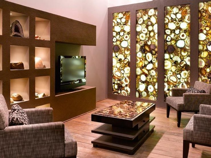 Round Carnelian Wall Panel: modern  by Stonesmiths - Redefining Stone-Age,Modern