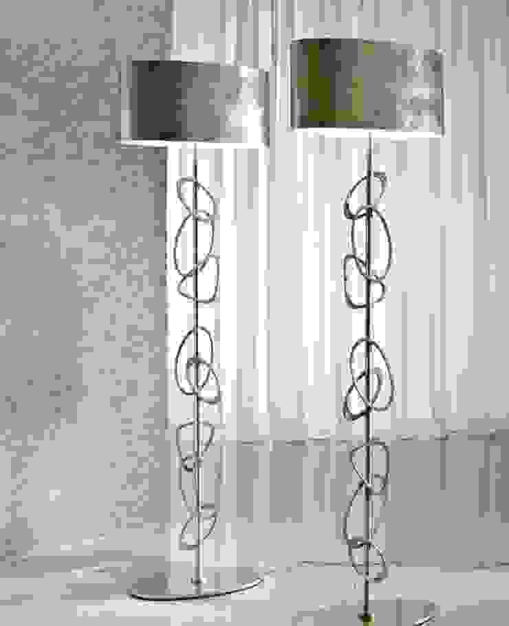 Lámpara de Pie Italiana Stones de Ámbar Muebles Moderno