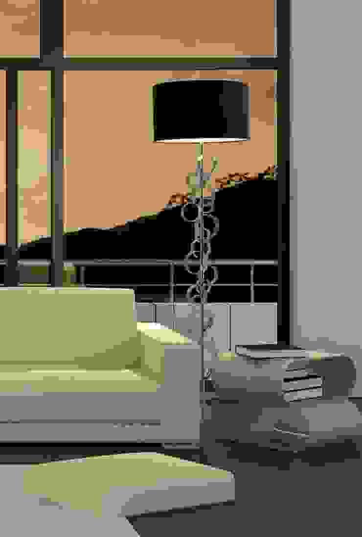 Lámpara de Pie Moderna Atmósfera de Ámbar Muebles Moderno