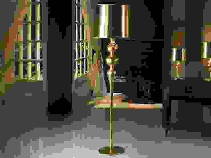 Lámpara de pie Orient Oro de Ámbar Muebles Moderno
