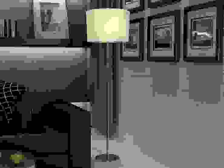 Lámpara de Pie Moderna Timor de Ámbar Muebles Moderno